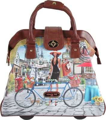 Nicole Lee Nicole Lee Cheri Rolling Business Tote - 18 inch Bicycle - Nicole Lee Luggage Totes and Satchels