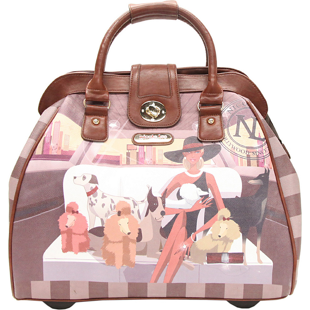 Nicole Lee Cheri Rolling Tote Special Print Edition LAUREN Nicole Lee Luggage Totes and Satchels