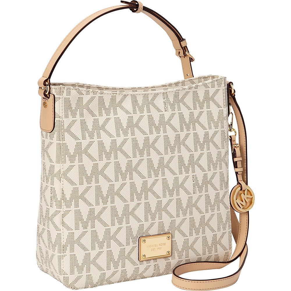 MICHAEL Michael Kors Jet Set Travel Large Messenger Crossbody Bag Vanilla - MICHAEL Michael Kors Designer Handbags