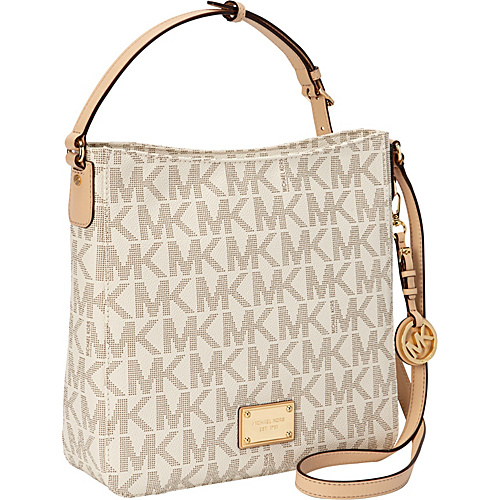 MICHAEL Michael Kors Jet Set Travel Large Messenger Crossbody Bag Vanilla - MICHAEL Michael Kors Designer Handbags