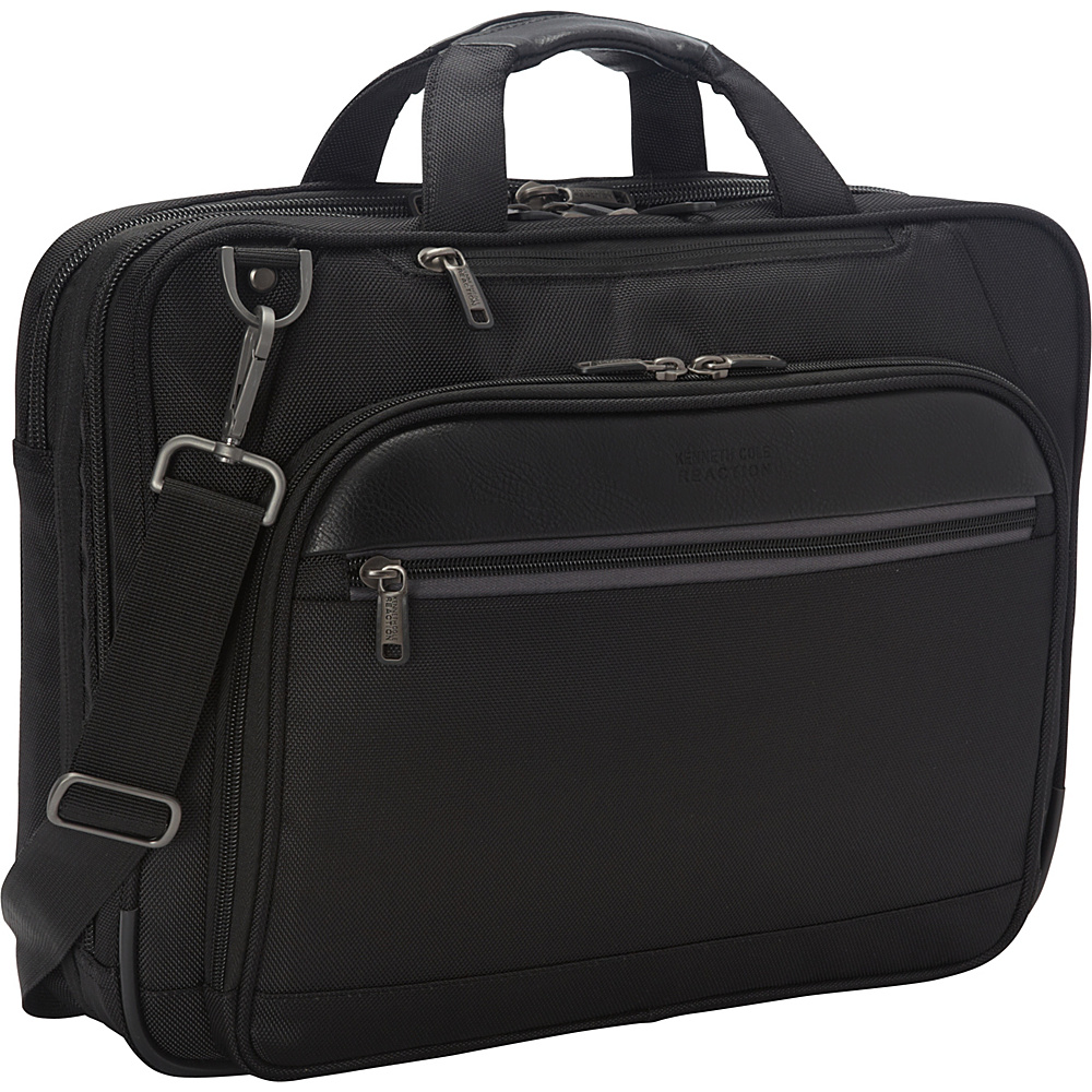 Kenneth Cole Reaction No Easy Way Out Laptop Bag Black - Kenneth Cole Reaction Non-Wheeled Business Cases