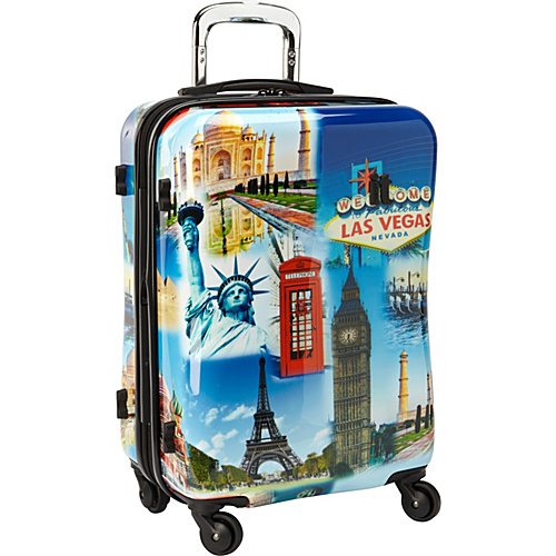 IT Luggage Faded Cities 22 Wheeled Carry On Faded Cities - IT Luggage Small Rolling Luggage