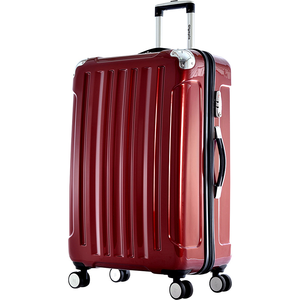 "Olympia Stanton 29"" Large-Size Spinner Burgundy - Olympia Hardside Checked"