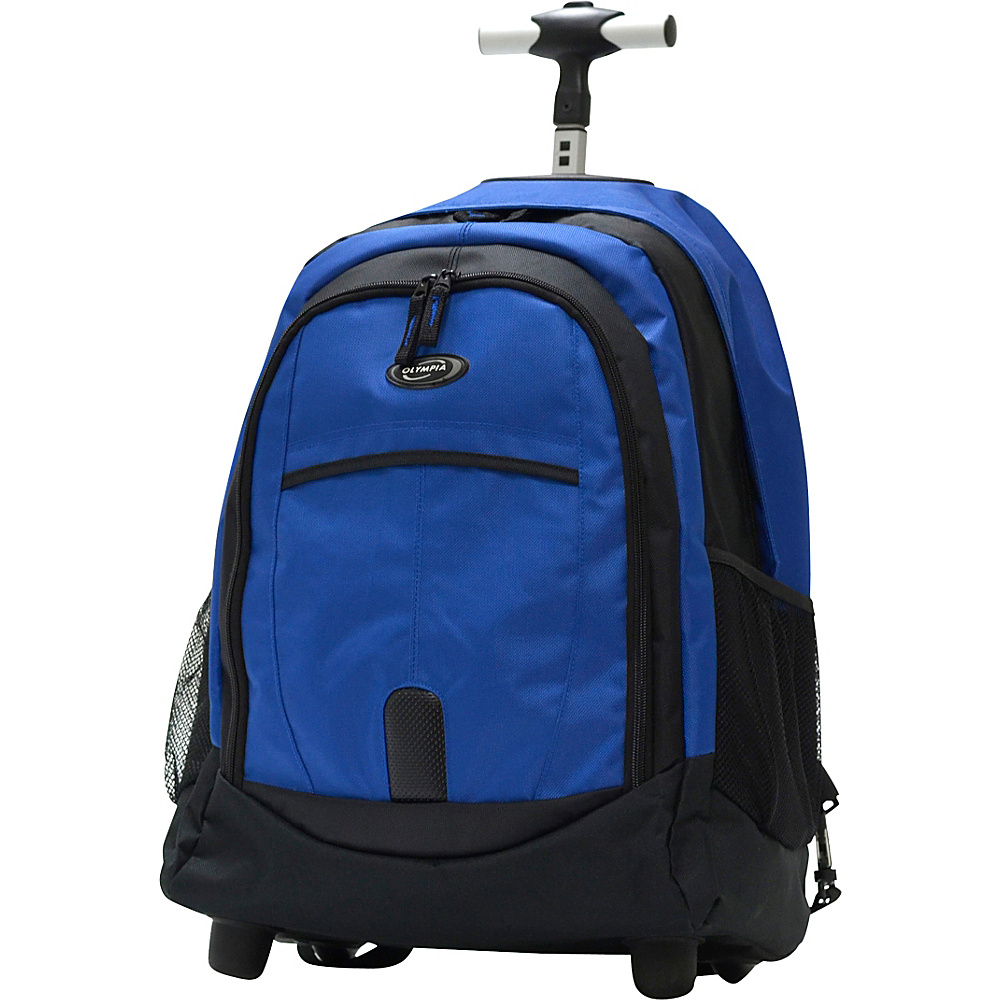 "Olympia USA 19"" Rolling Backpack Blues - Olympia USA Rolling Backpacks"