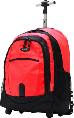 Olympia USA 19 inch Rolling Backpack Reds - Olympia USA Rolling Backpacks