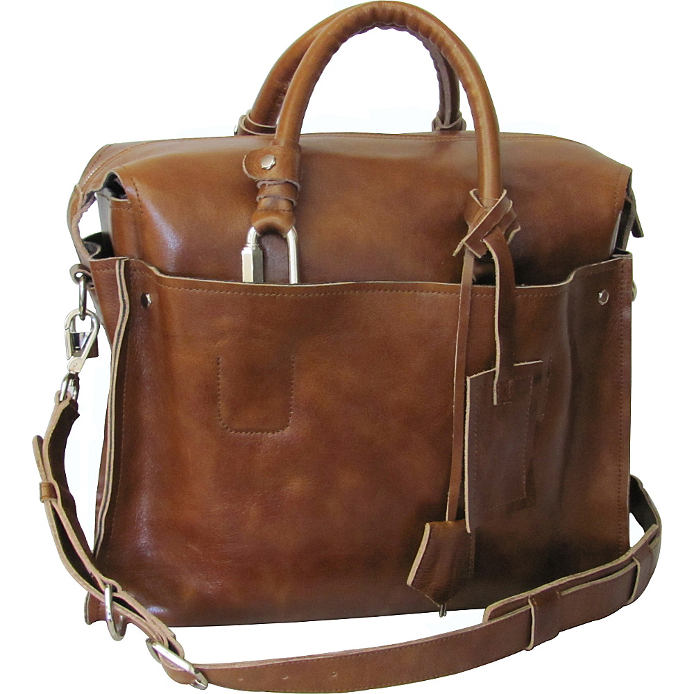 AmeriLeather Holmes Investigator Briefcase Brown - AmeriLeather Non-Wheeled Business Cases - Work Bags & Briefcases, Non-Wheeled Business Cases