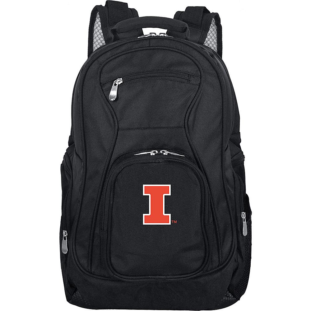 Denco Sports Luggage NCAA 19 Laptop Backpack University of Illinois Fighting Illini - Denco Sports Luggage Business & Laptop Backpacks - Backpacks, Business & Laptop Backpacks