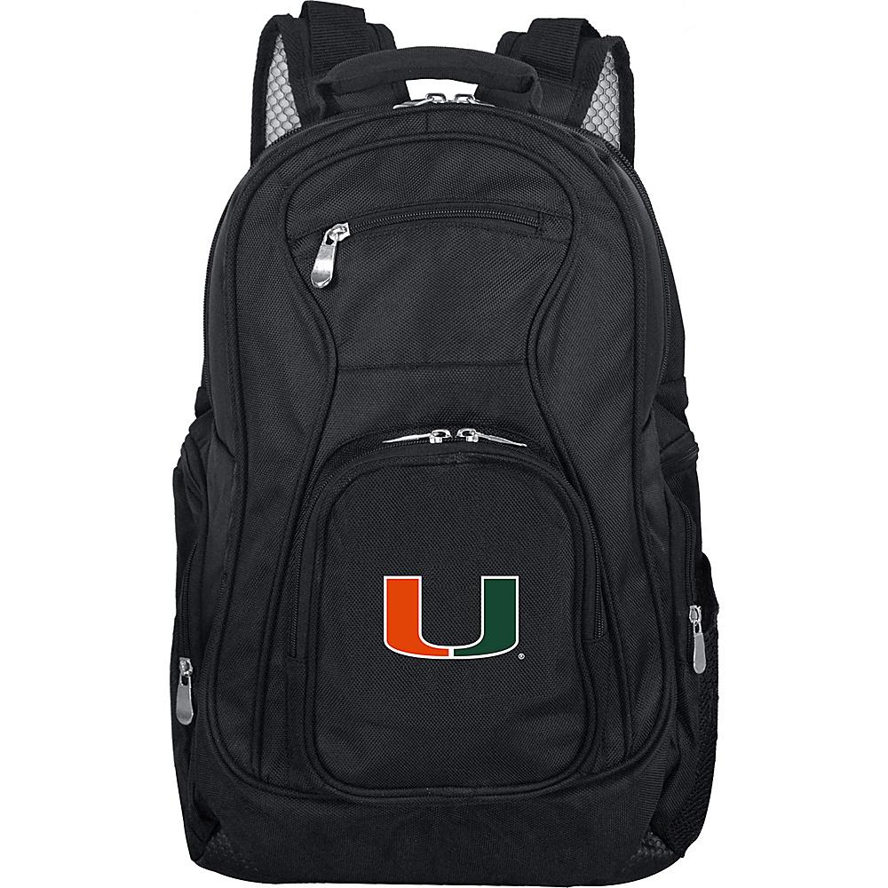 Denco Sports Luggage NCAA 19 Laptop Backpack University of Miami Hurricanes - Denco Sports Luggage Business & Laptop Backpacks - Backpacks, Business & Laptop Backpacks