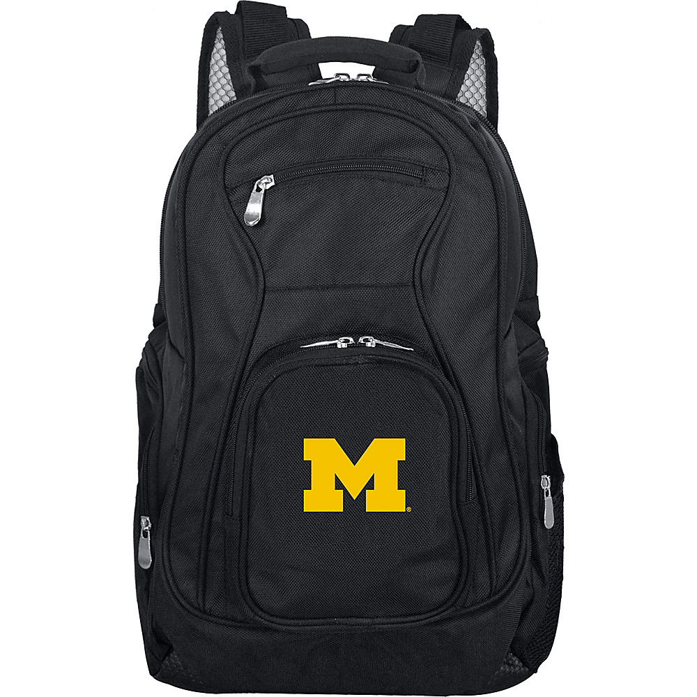 Denco Sports Luggage NCAA 19 Laptop Backpack University of Michigan Wolverines - Denco Sports Luggage Business & Laptop Backpacks - Backpacks, Business & Laptop Backpacks