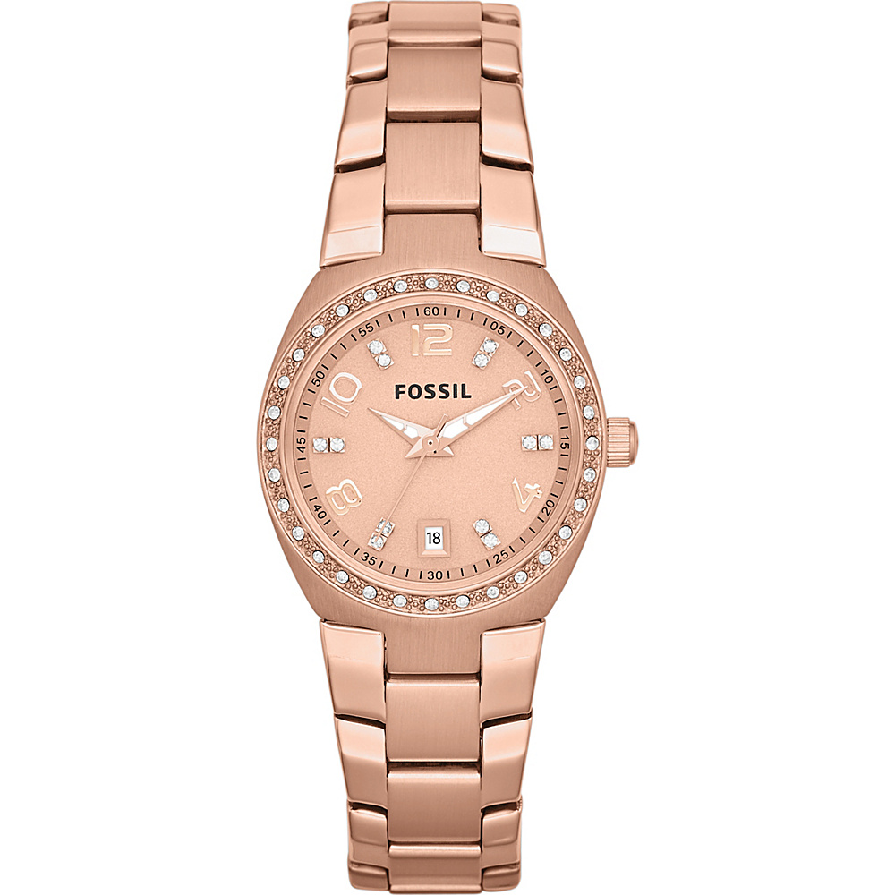 Fossil Serena Three Hand Stainless Steel Watch Rose Gold Turquois Fossil Watches