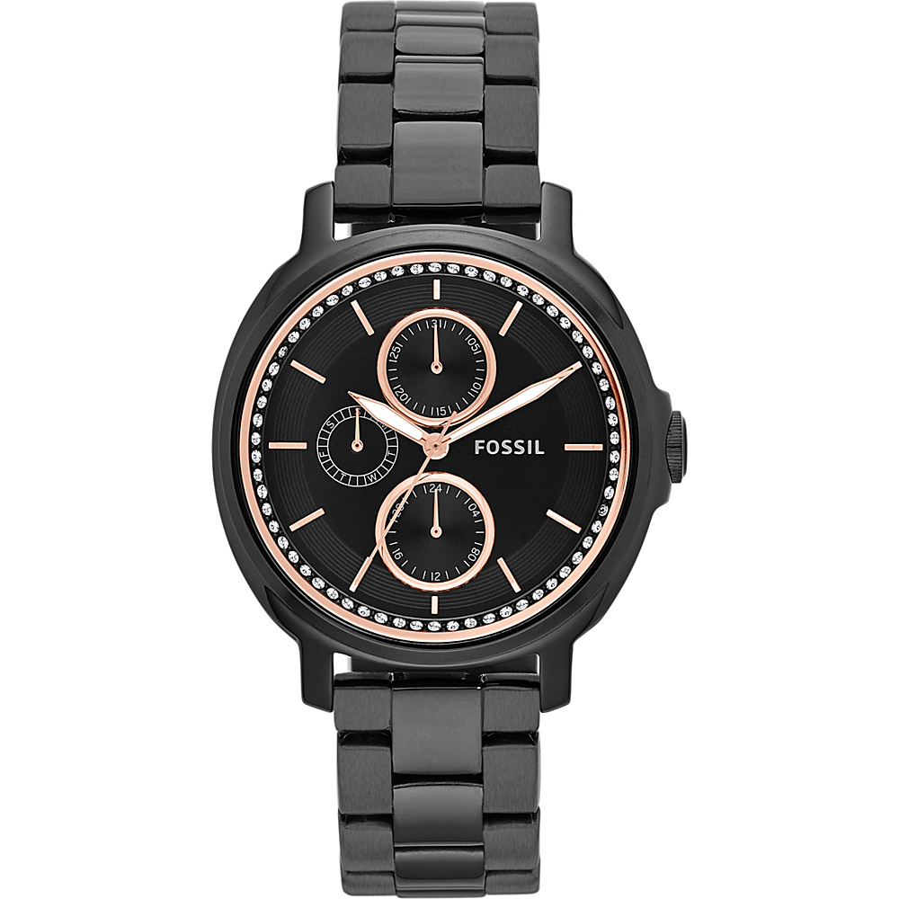 Fossil Chelsey Multifunction Stainless Steel Watch Black - Fossil Watches - Fashion Accessories, Watches