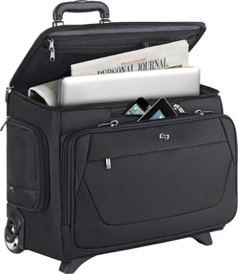 SOLO Classic 15.6 inch Laptop Rolling Catalog Case Black - SOLO Wheeled Business Cases