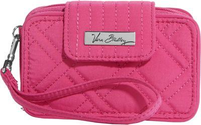 Vera Bradley Smartphone Wristlet 2.0- Solids Deep Pink - Vera Bradley Ladies Wallet on a String