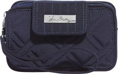 Vera Bradley Smartphone Wristlet 2.0- Solids Classic Navy - Vera Bradley Ladies Wallet on a String