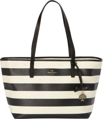 kate spade new york Hawthorne Lane Ryan Tote Bag Deco Beige/Black - kate spade new york Designer Handbags