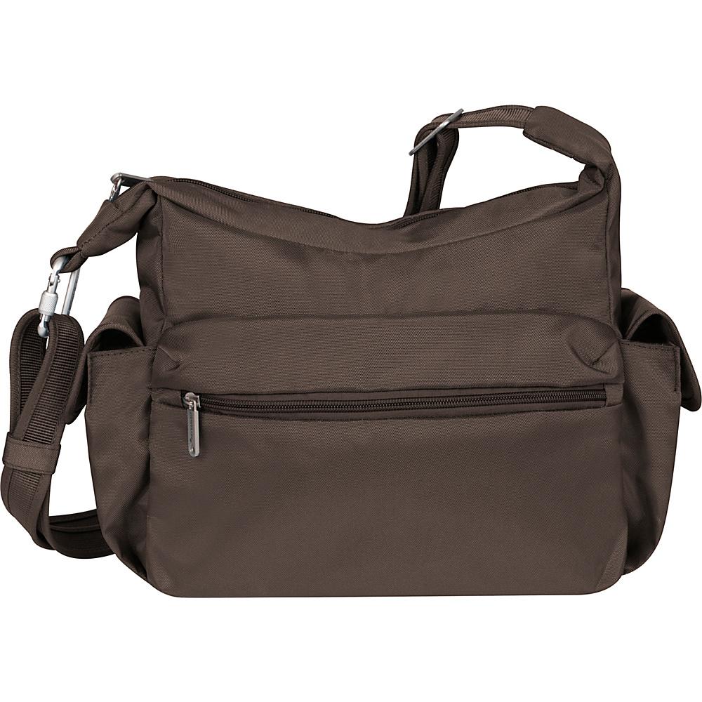 Travelon Anti-Theft Classic E/W Hobo Chocolate - Travelon Fabric Handbags
