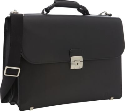 Hartmann Luggage Heritage Flap Brief Black - Hartmann Luggage Non-Wheeled Business Cases