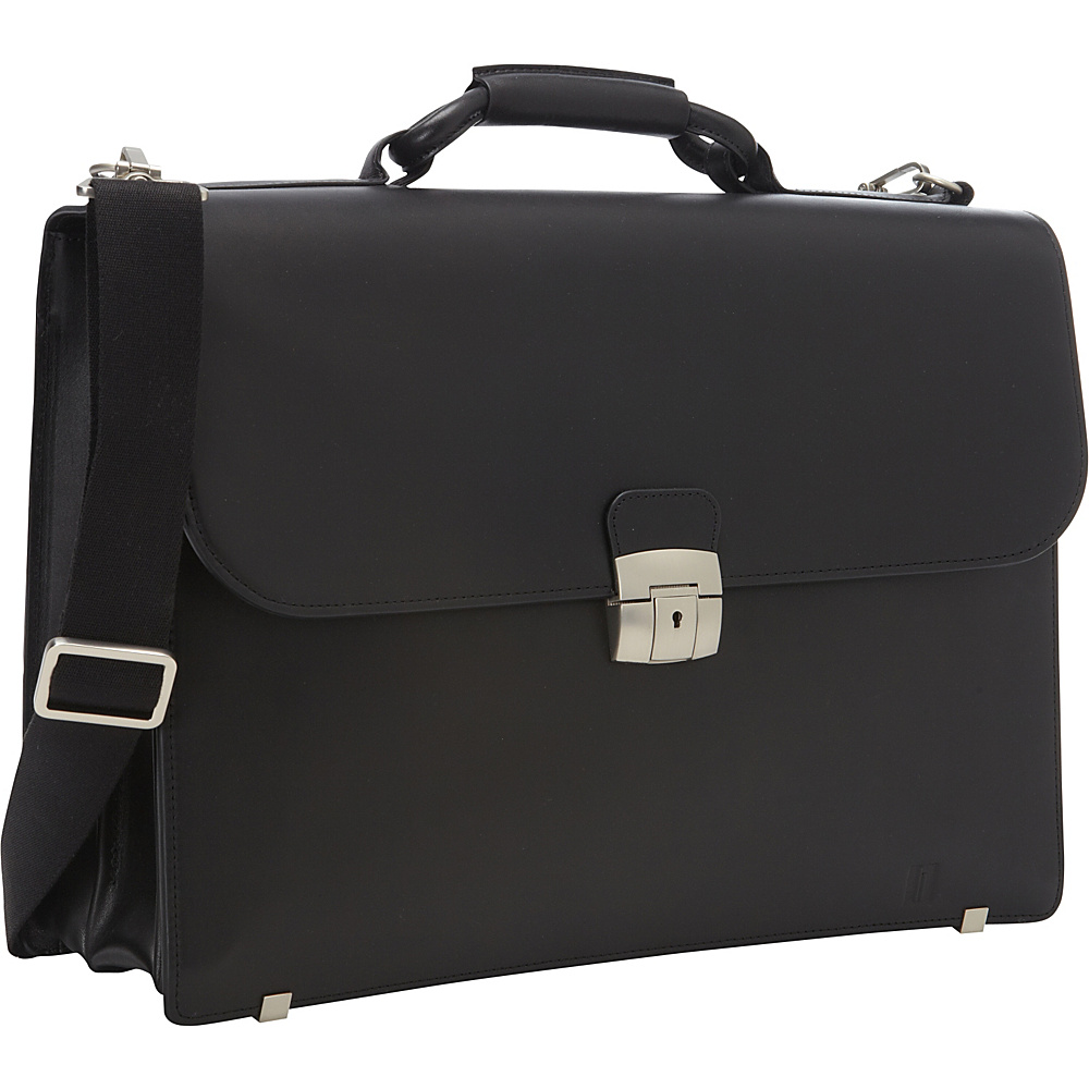 Hartmann Luggage Heritage Flap Brief Black Hartmann Luggage Non Wheeled Business Cases
