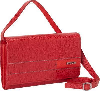 Ferrari Luxury Collection GT Lady Cross Shoulder Mini Bag Reds - Ferrari Luxury Collection Leather Handbags