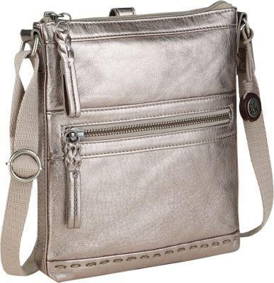 The Sak Pax Swing Pack Crossbody Bag Pyrite Metallic - The Sak Leather Handbags