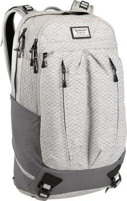 Burton Bravo Pack Gray Heather Diamond Ripstop - Burton Business & Laptop Backpacks