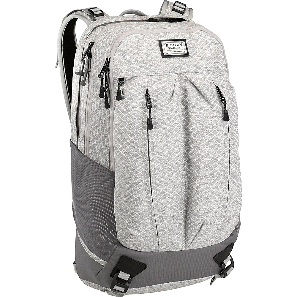 Burton Bravo Pack Gray Heather Diamond Ripstop Burton Business Laptop Backpacks