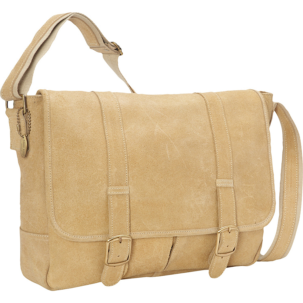 David King Co. Double Strap Messenger Distressed Tan David King Co. Messenger Bags