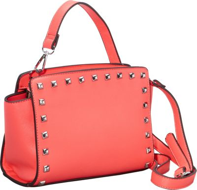 SW Global Veva Crossbody with Studded Trim Red - SW Global Manmade Handbags