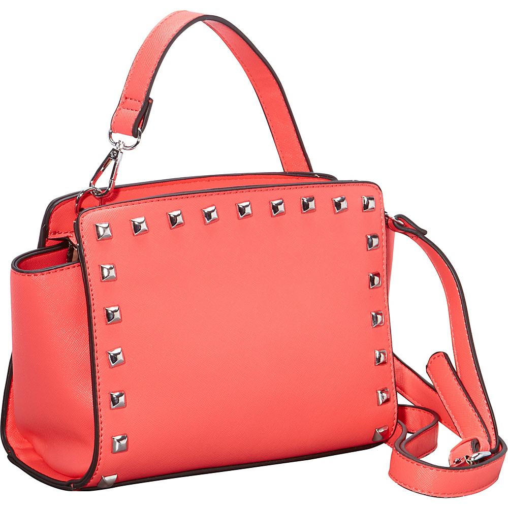 SW Global Veva Crossbody with Studded Trim Red - SW Global Manmade Handbags - Handbags, Manmade Handbags