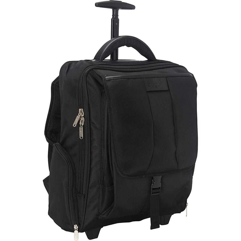 Bugatti Rolling 15 Laptop Backpack Black Bugatti Rolling Backpacks