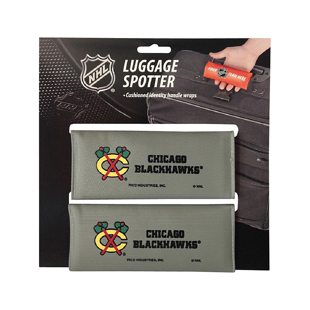 Luggage Spotters NHL Chicago Blackhawks Luggage Spotter Gray Luggage Spotters Luggage Accessories