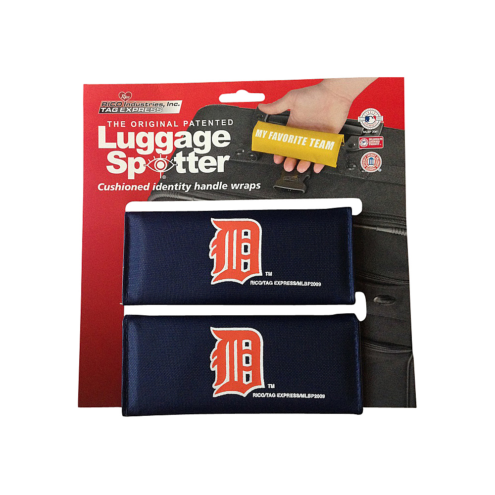 Luggage Spotters MLB Detroit Tigers Luggage Spotter Blue Luggage Spotters Luggage Accessories