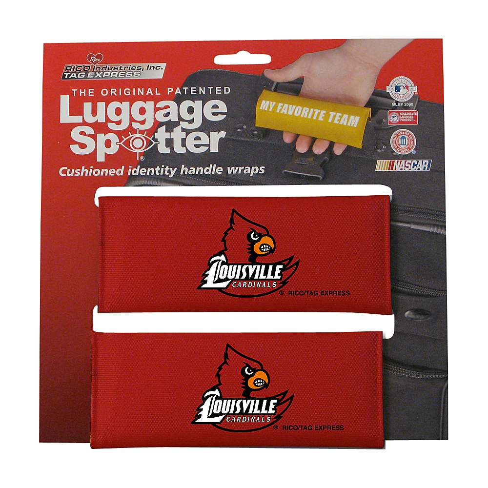 Luggage Spotters NCAA Louisville Cardinals Luggage Spotter Red Luggage Spotters Luggage Accessories