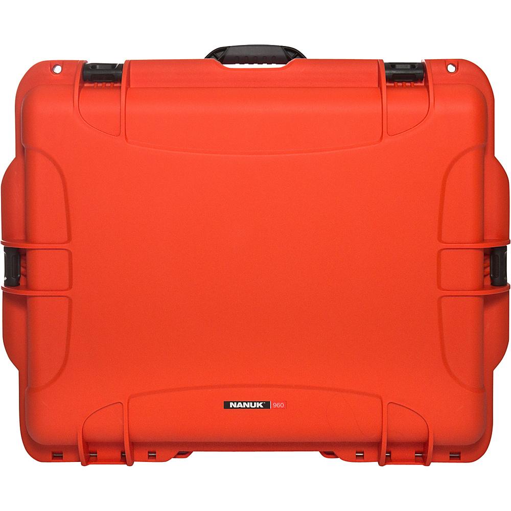 NANUK 960 Case With Foam Orange NANUK Hardside Checked