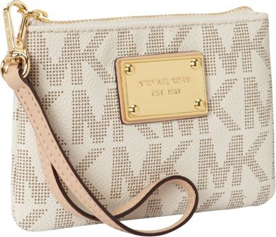 MICHAEL Michael Kors Jet Set Item Small Wristlet Vanilla - MICHAEL Michael Kors Designer Handbags