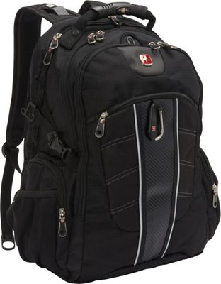 SwissGear Travel Gear 1753 Scansmart TSA Laptop Backpack - 15 inch Black - SwissGear Travel Gear Business & Laptop Backpacks