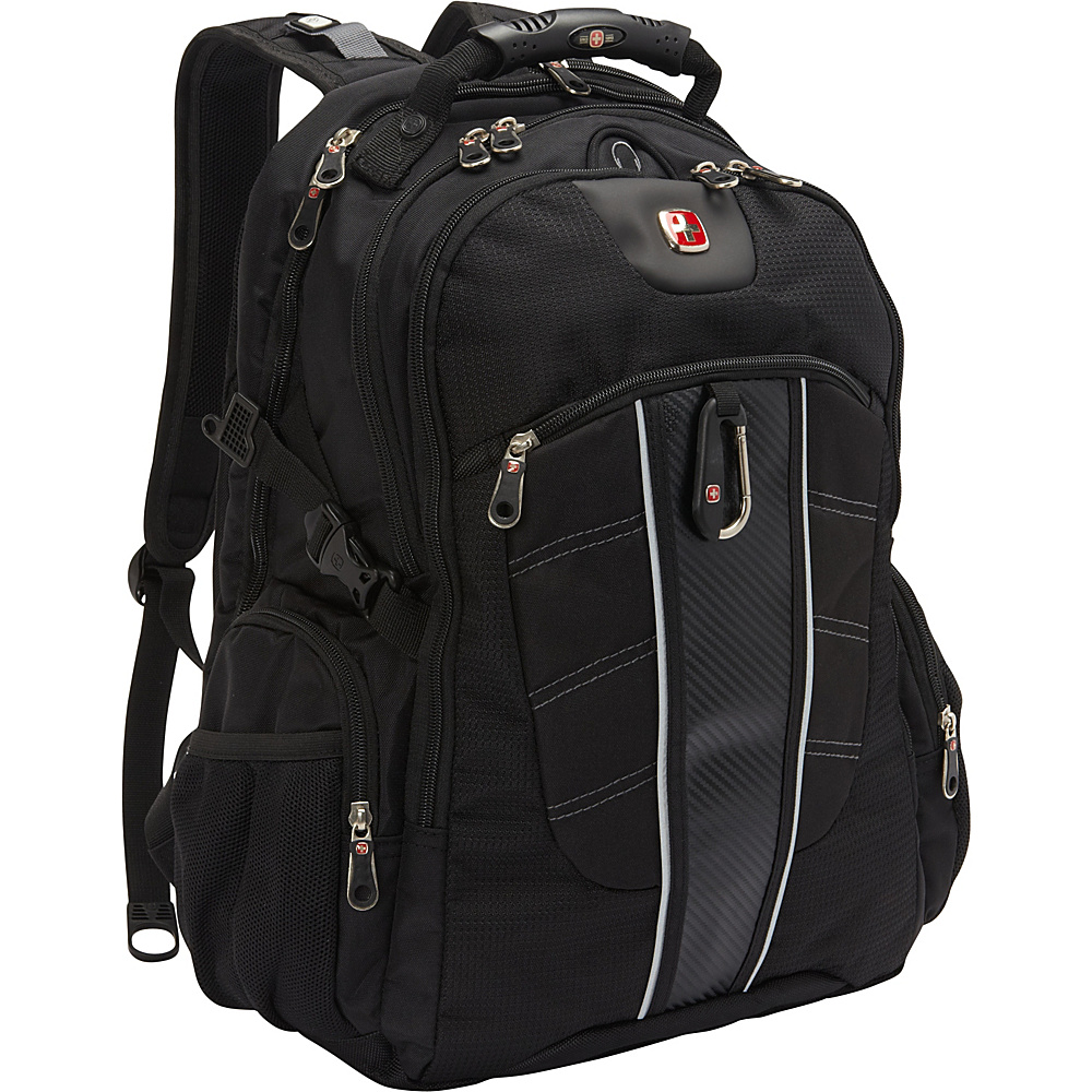 SwissGear Travel Gear Jetta ScanSmart Backpack Black SwissGear Travel Gear Business Laptop Backpacks