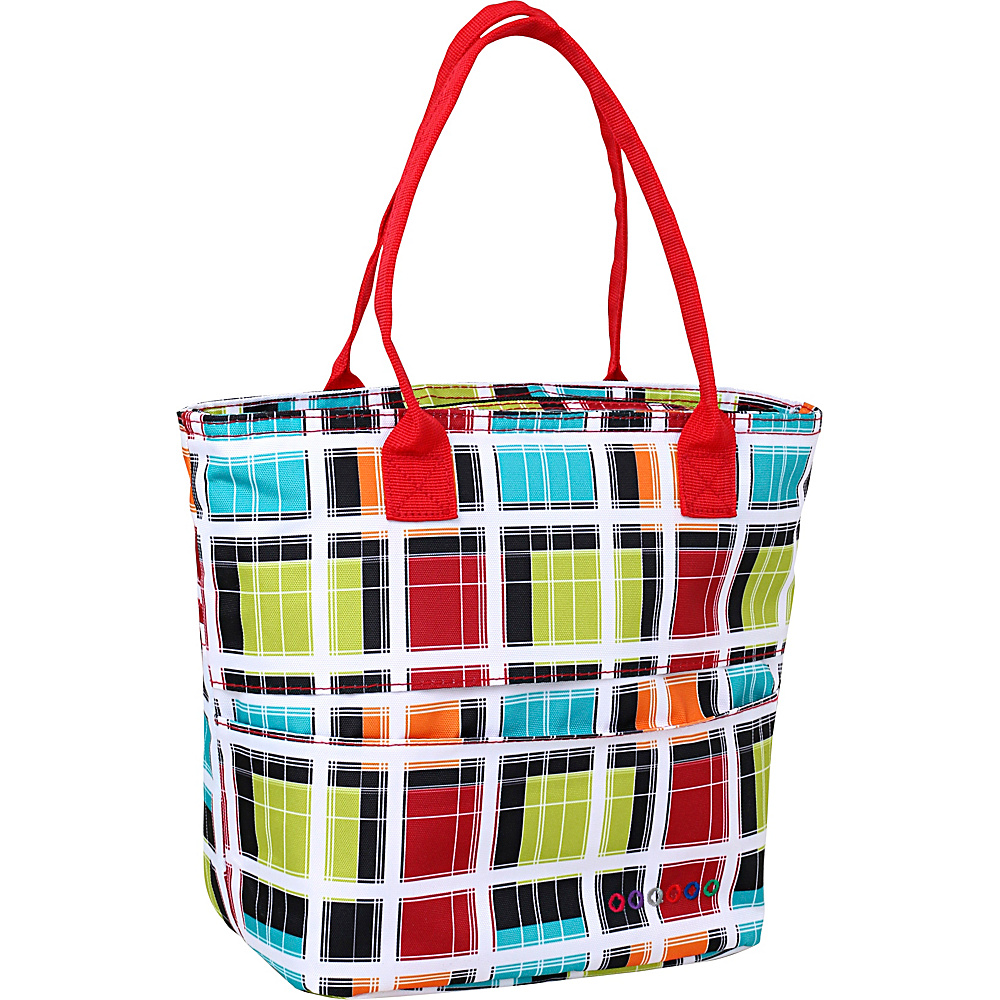 J World New York Lola Insulated Lunch Tote Colorstrip - J World New York Travel Coolers - Travel Accessories, Travel Coolers