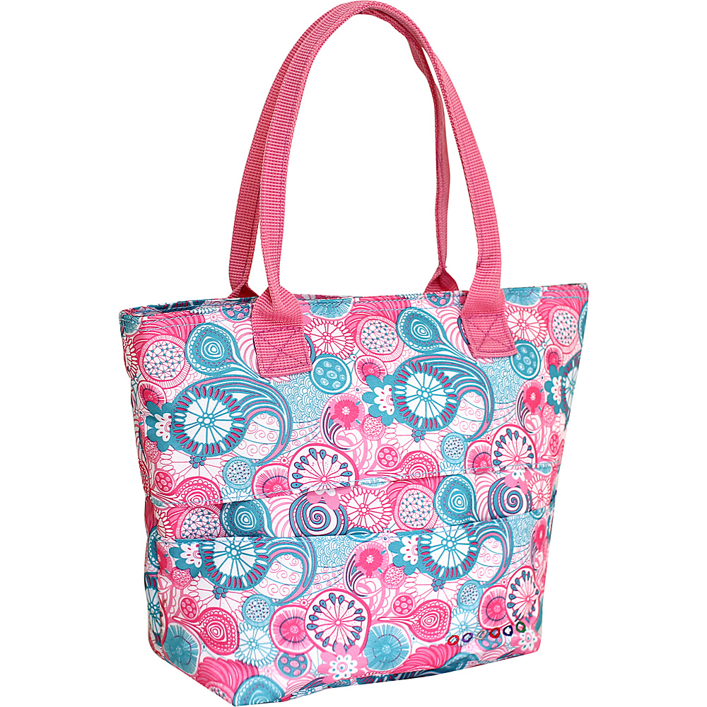 J World New York Lola Insulated Lunch Tote Blue Raspberry - J World New York Travel Coolers