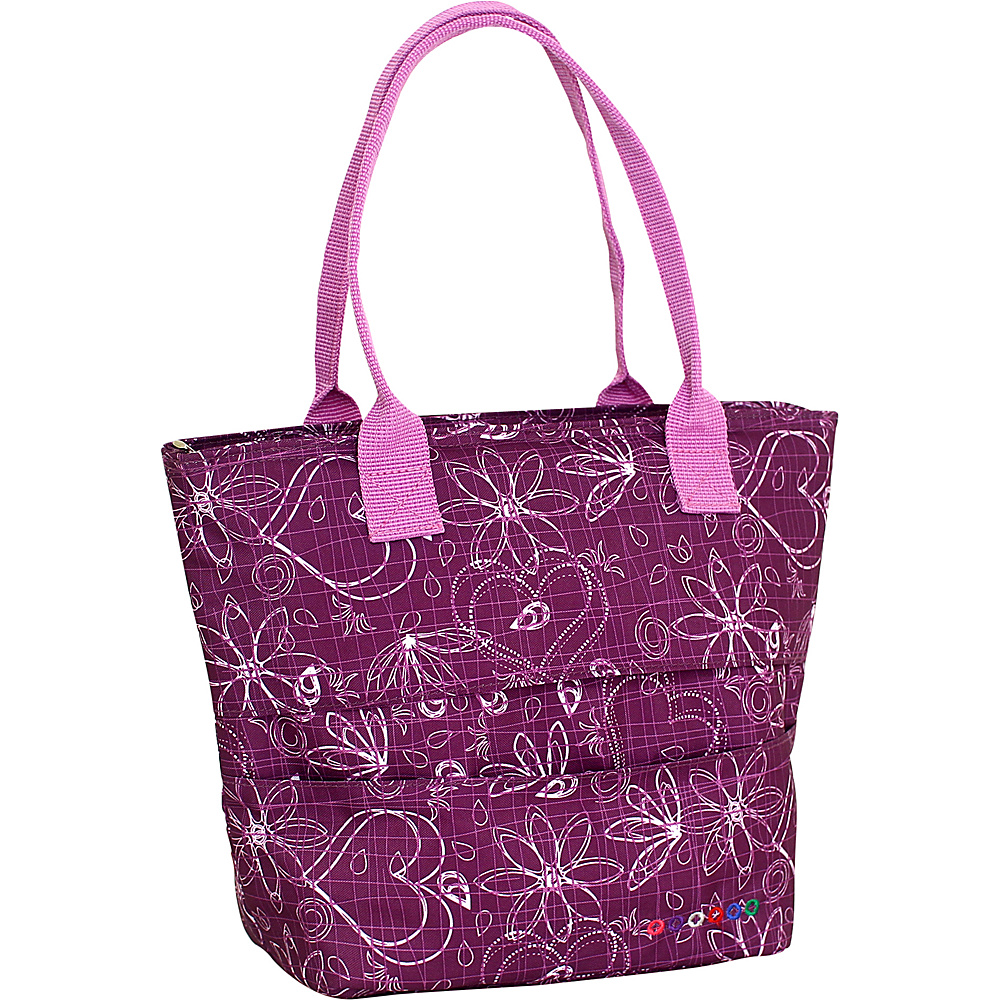 J World New York Lola Insulated Lunch Tote Love Purple J World New York Travel Coolers