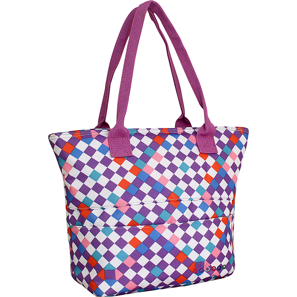 J World New York Lola Insulated Lunch Tote CHECKMATE J World New York Travel Coolers