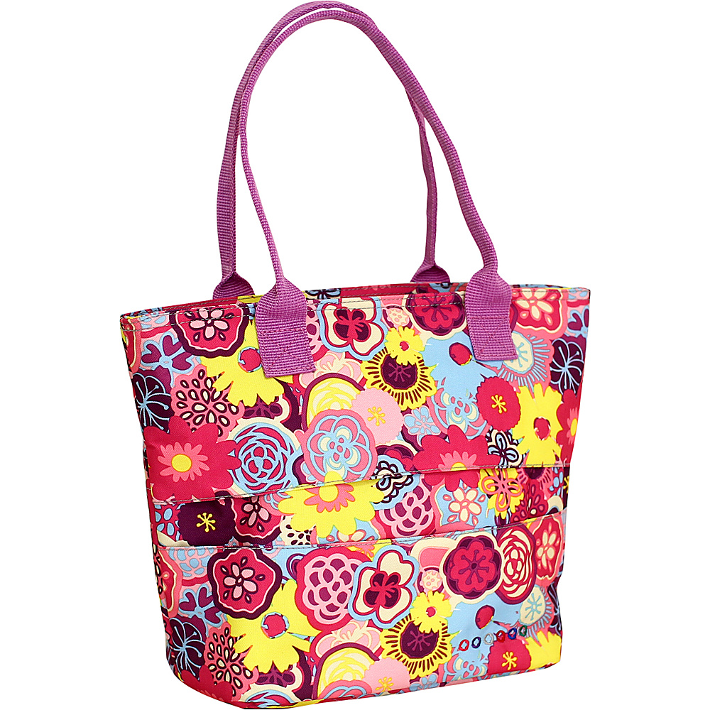 J World New York Lola Insulated Lunch Tote POPPY PANSY - J World New York Travel Coolers