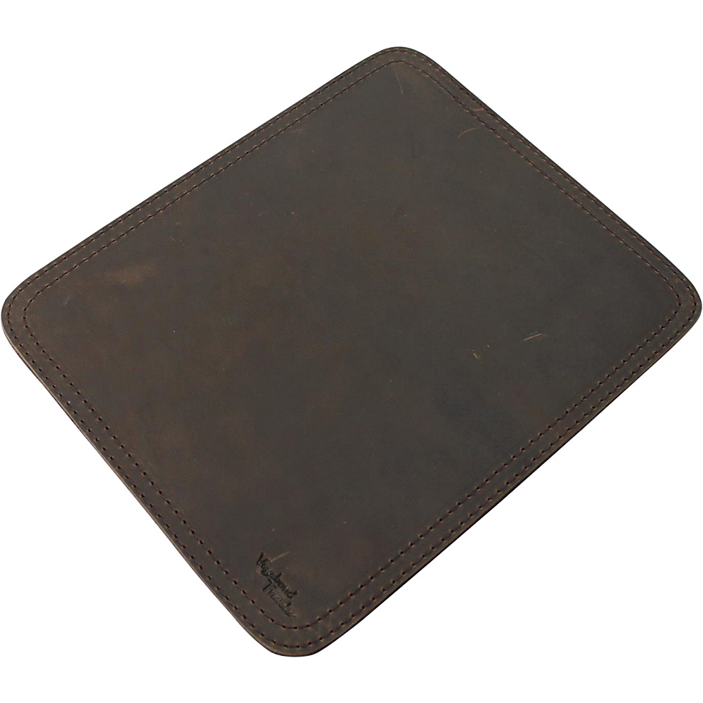 Vagabond Traveler Leather Stationary Mouse Pad Coffee Brown - Vagabond Traveler Business Accessories - Work Bags & Briefcases, Business Accessories