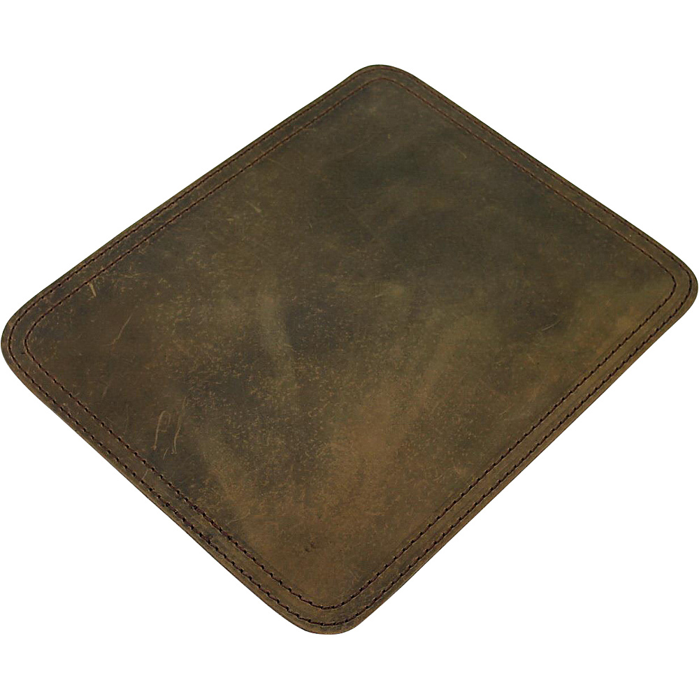 Vagabond Traveler Leather Stationary Mouse Pad Vintage Distress - Vagabond Traveler Business Accessories - Work Bags & Briefcases, Business Accessories