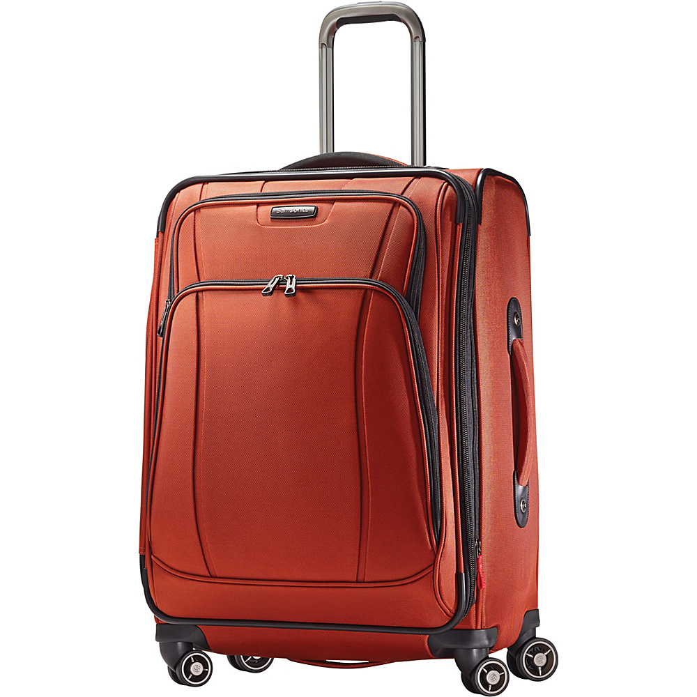 Samsonite DK3 25 Spinner Luggage Orange Zest Samsonite Softside Checked