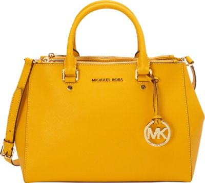 MICHAEL Michael Kors Sutton Medium Satchel Sun - MICHAEL Michael Kors Designer Handbags