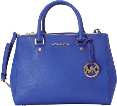 MICHAEL Michael Kors Sutton Medium Satchel Electric Blue - MICHAEL Michael Kors Designer Handbags