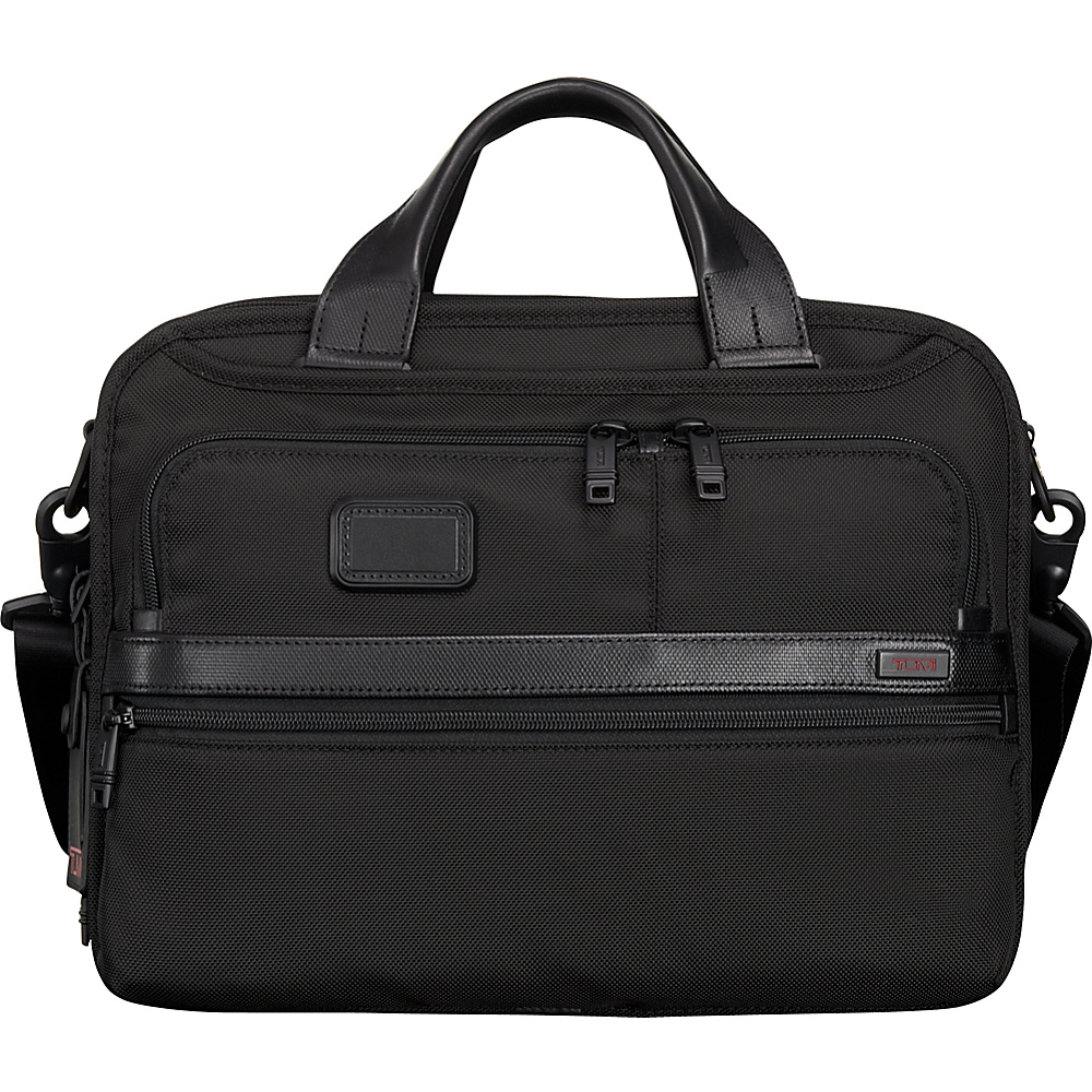 Tumi Alpha 2 Small Screen Expandable Laptop Brief Black - Tumi Non-Wheeled Business Cases - Work Bags & Briefcases, Non-Wheeled Business Cases