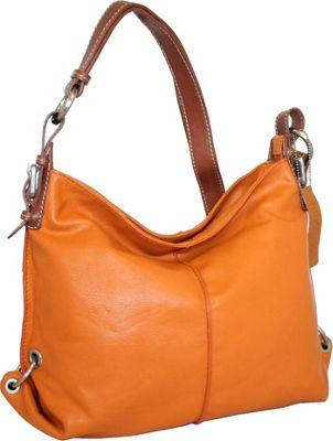 Nino Bossi Gather by Ring Crossbody Orange - Nino Bossi Leather Handbags