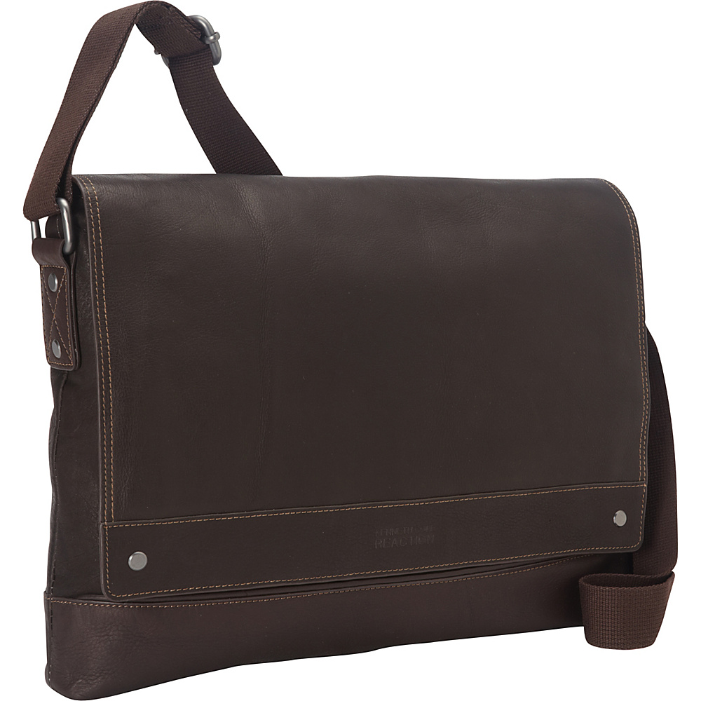 Kenneth Cole Reaction Mess ed the Mark Tablet Messenger Bag Brown Kenneth Cole Reaction Messenger Bags